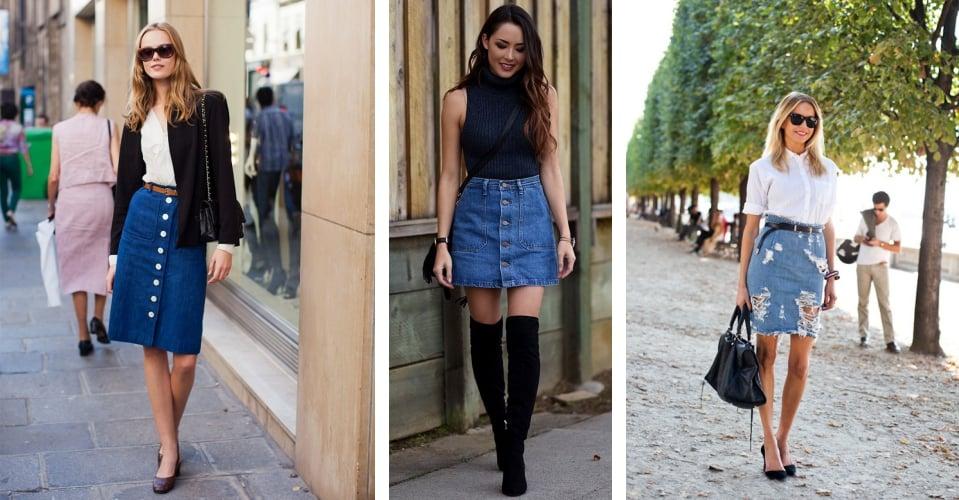 10 looks MARA com saia jeans