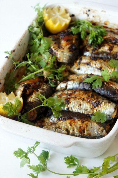 sardinha com chermoula